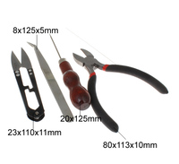 7pcs Set Tool Equipments Set Awl Plier Scissors Tweezers Jewelry Pliers Cutter Chain Round Beading Making