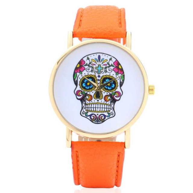 2017 cool big skull watch by the leisure temperament Men's favorite pin buckle P