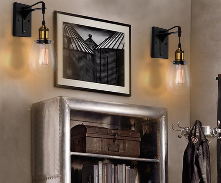 Vintage Badkamer Spiegel : Loft vintage industriële amerikaanse land teardrop glas edison