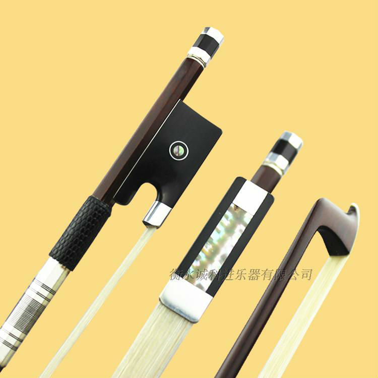 1Pc AAAAA Best Professional Pernambuco 4/4 Violin Bow Siberia White Horsetail Silver Fittings Best Balance Free Shipping #26 aaaaa professional pernambuco wood 4 4 violin bow white siberia horsetail nickel siver mounted ebony frog free shipping 9