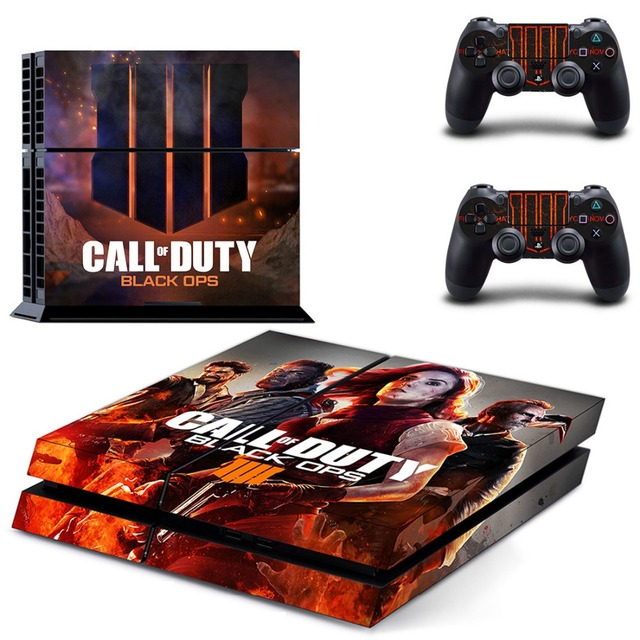 Call of Duty: Black Ops 4 PS4 Skin Console & Controller Decal Stickers for Sony PlayStation 4 Console and Two Controller 4