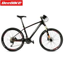 BEEBIKE 27 Speed Carbon Fiber T700 Mountain Bike 26er 16inch Ultralight Bicycle Cycle SHIMANO M370 Derailleur & Hydraulic Brake