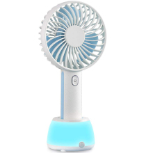 Mini Handheld Fan, Usb Fan With Led Night Light, Lightweight Portable Personal Battery Operated Desk Desktop Tabl