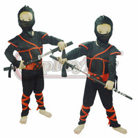 Ninja Warrior Cosplay Costume Kids Black Night Halloween Carnival Fancy Party Costume D0804