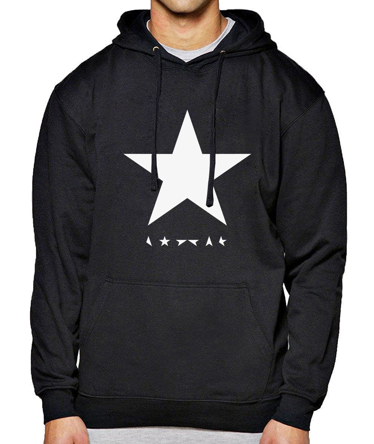 David Bowie Heroes Star Logo Printed Hoody For Men 2019  Spring Fleece Sweatshirt New Hot Winter Mens Hoodies Streetwear Casual