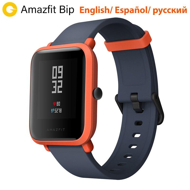 Huami Amazfit Bip Смарт-часы [русский язык] Спортивные часы темп Lite Bluetooth 4.0 GPS сердечного ритма 45 дней Батарея IP68