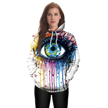 Cosplay Hoodies Big Eyes Digital Printing Cosplay Womens Hedging Loose Long-sleeved Hooded Couple Sweater