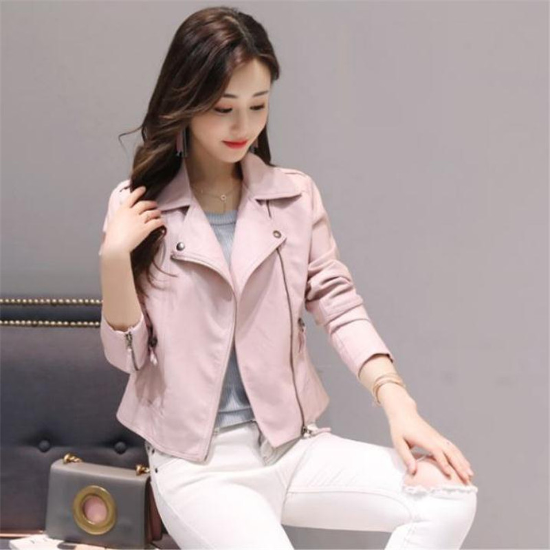 33839e578 College Style Pink 4XL Artificial Leather Jacket Coats European and ...
