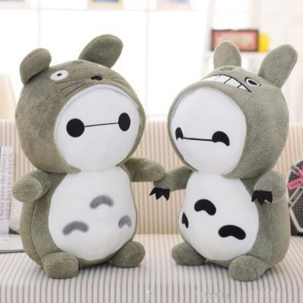 The white morph Totoro plush toys, pillows, decorative sofa, large doll birthday girls Christmas gift, free delivery