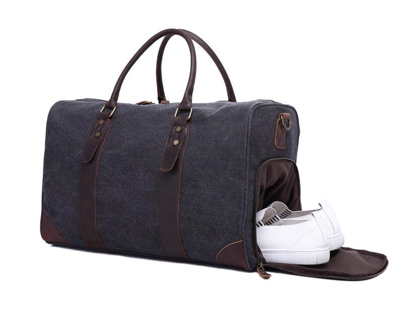 все цены на Nesitu High Quality Big Large Capacity Grey Army Green Vintage Canvas Men Travel Bags Men Messenger Bags Shoulder Bag #M3070