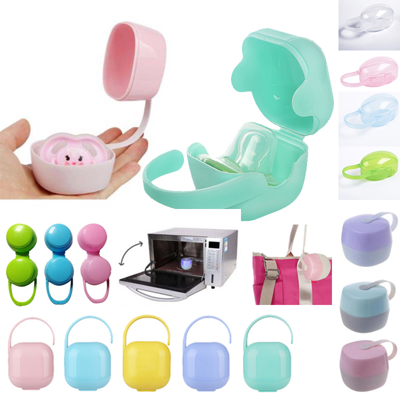 Baby Feeding Nipple Storage Box 1Pc Soild Portable Baby Infant Kids Pacifier Nipple Cradle Case Holder Travel Storage Box
