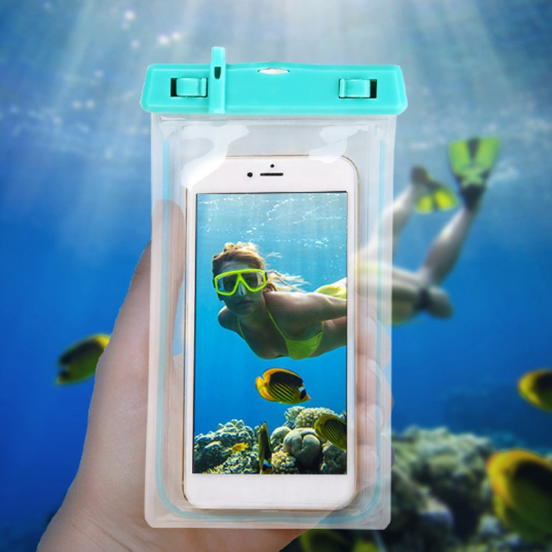 Universal Waterproof Pouch Cell Phone Case Bag Luminous Night Swim Underwater Case Diving Swimming Phone Case Drop shipping