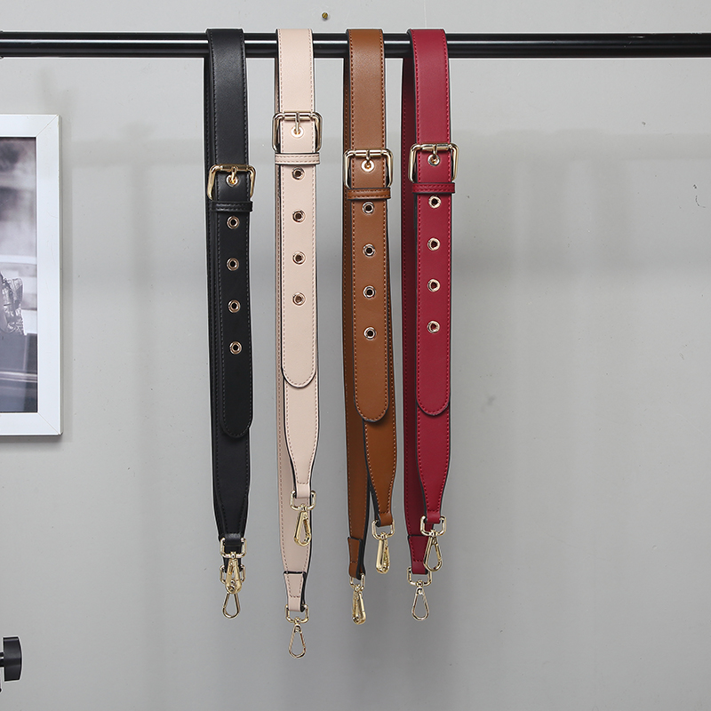 NEW High Quality Multicolor Female Adjustable Thin Pin Buckle Vintage Leather Shoulder Strap Accessories For Women Bag Belt