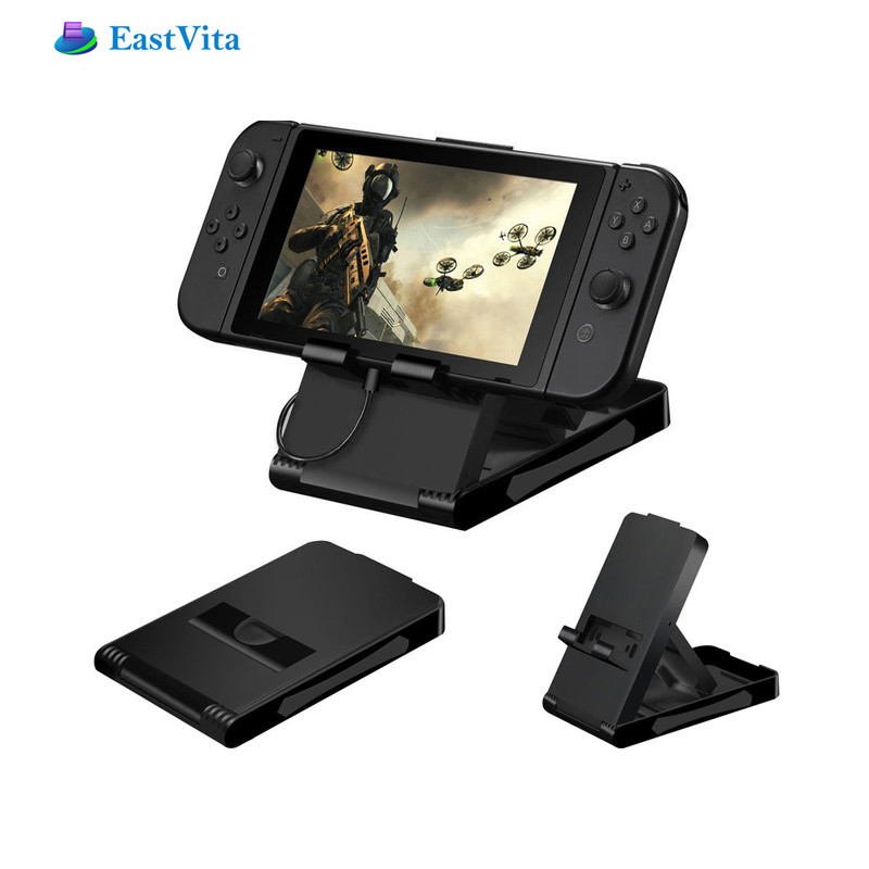 EastVita Universal Playstand Desktop Stand For Nintend Switch NS Game Console Holder Adjustable Angle Foldable Base Bracket r20