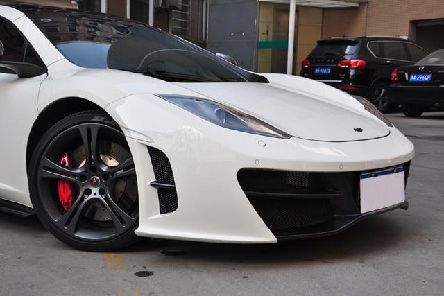 2012 2014 mclaren mp4 12c front bumper rza style carbon fiber front