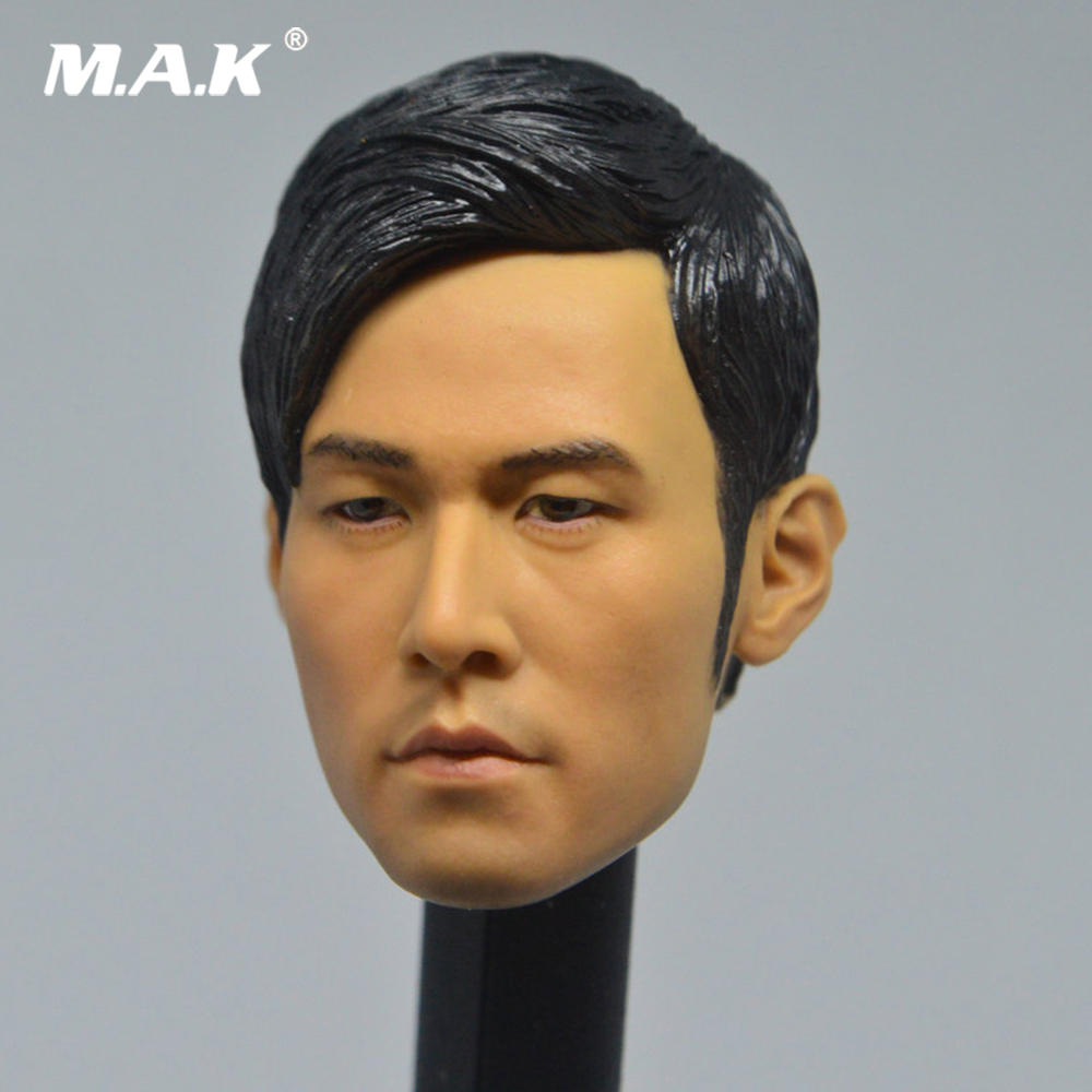 1//6 Scale Asian Man Head Carving Model for 12Inch Action Figure Male Phicen