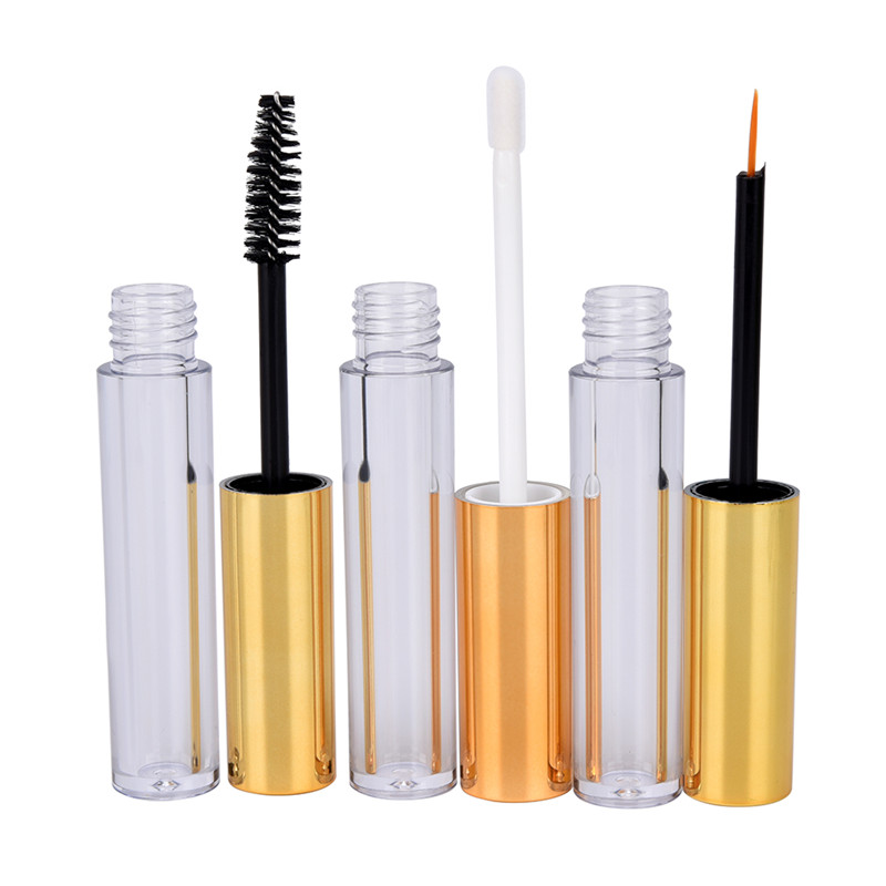1 Pcs DIY Container Eyelash tube + 1x Eyeliner tube + 1x Lip Gloss tube Empty Cosmetic Tube with Wand Funnels Rubber Inserts image