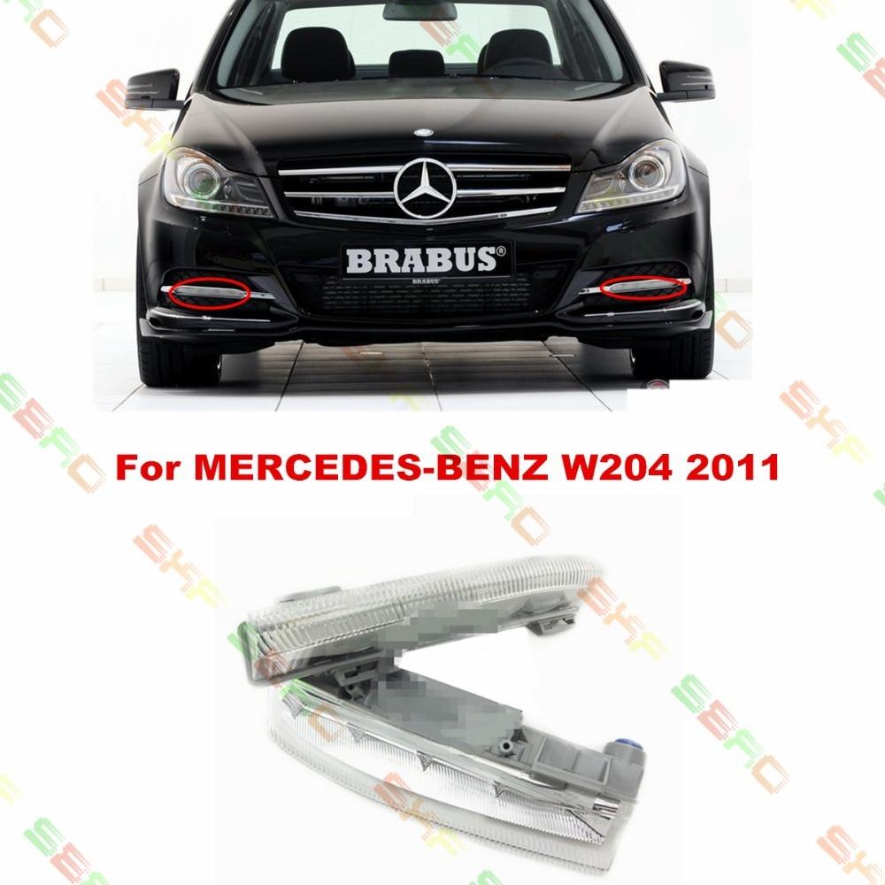 For MERCEDES-BENZ C-CLASS W204   2011  car styling fog light  led Daytime running lights  1 SET стоимость