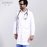2016 New Arrival Cotton Polyester White Medical Lab Coat Clothing Medical Services Uniform Nurse Clothing Long