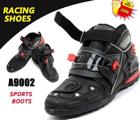 (1pair/2colors) 100% Genuine Motorcycle Boots Road Cycling Shoes Motocross Half Boot Racing Cycle Footwear Pro-Biker B004