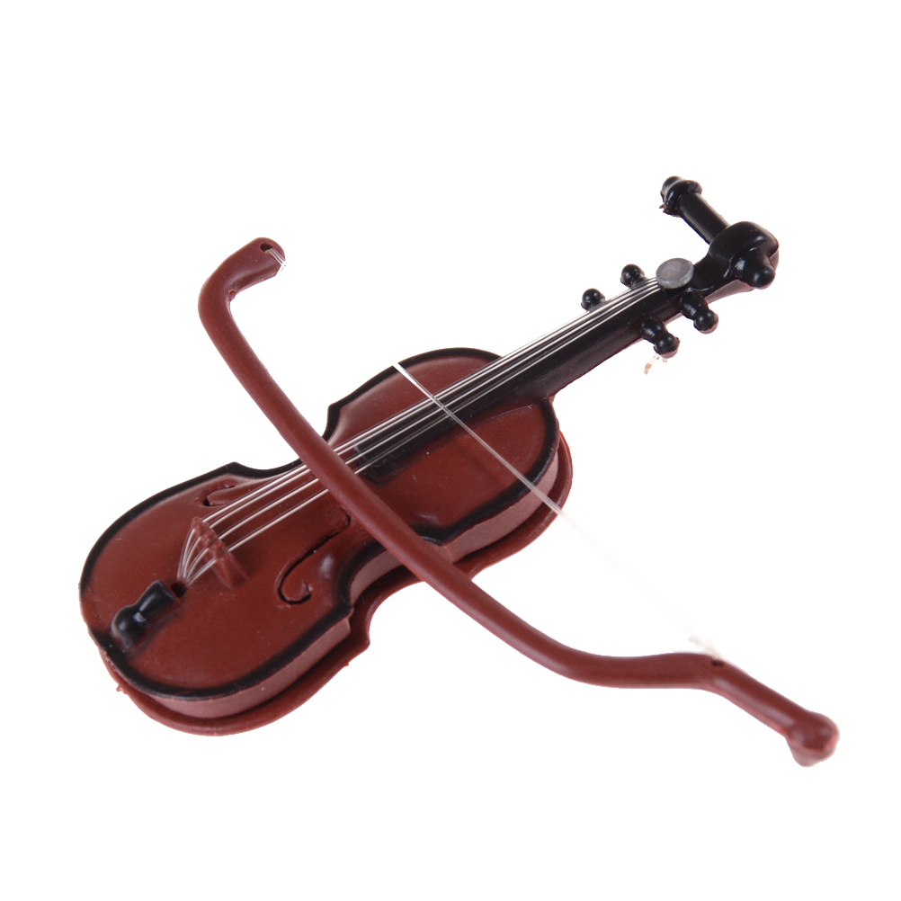 Home & Garden Wooden Musical Instrument Collection Decorative Ornament Educational Children Gift Party Favor Mini Violin Support Miniature Home Decor