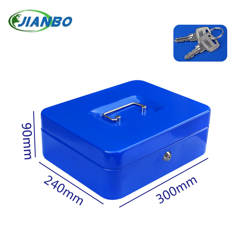 Household Security Box Portable Steel Petty Lockable Cash Money Coin Safe Box with Key Lock Money Jewelry Safty 250a portable mini iron mini safe box cash box cash register domestic steel safe