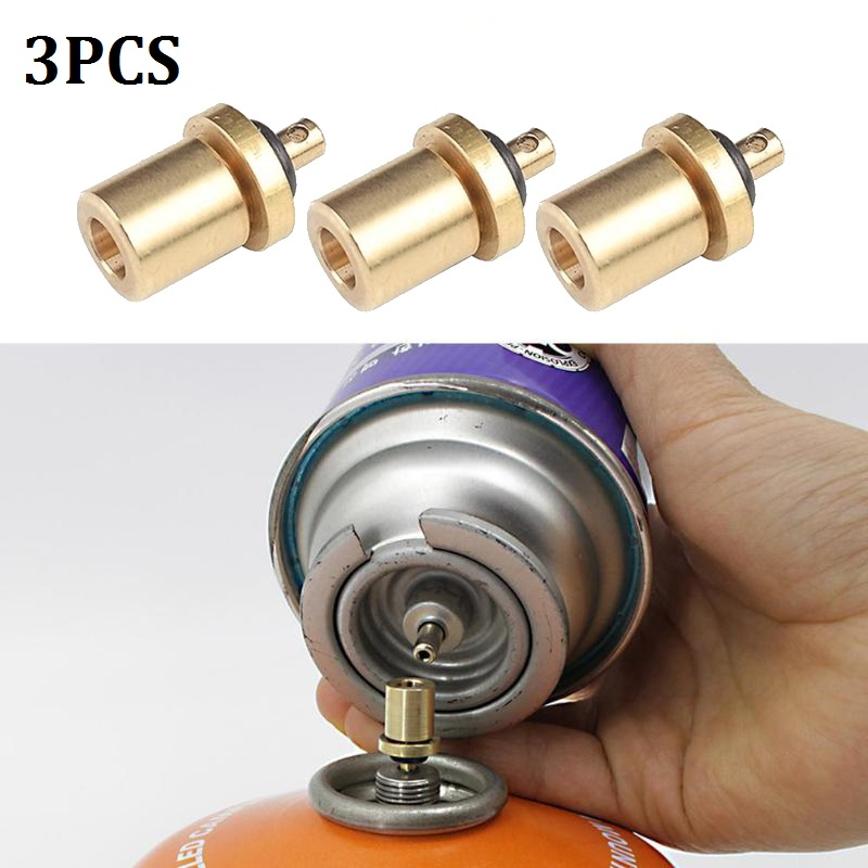 1/2/3Pcs Gas Burner Adapter Outdoor Camping Stove Gas Cylinder Gas Tank Gas Burner Accessories Hiking Inflate Butane Canister