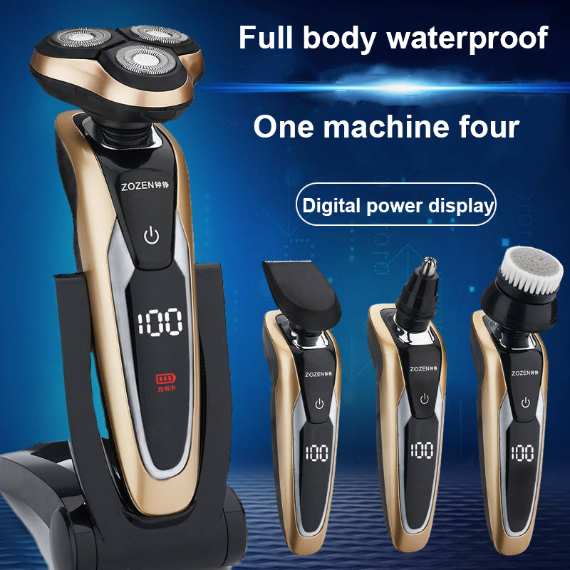 Male 3d More Function 4 In 1 Man Electric Shaver Intelligence Razor Whole Body Wash Usb Charging Type Barbeador Shaving Machine