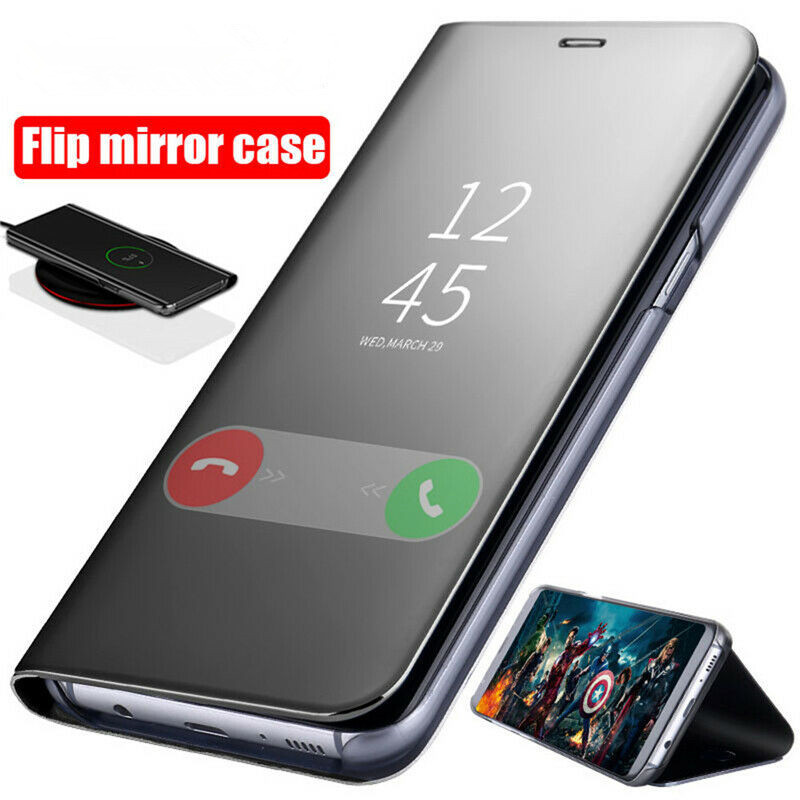 Luxury Mirror Flip Standing Case for Xiaomi Redmi Note 7 6 Pro Leather Cover for Coque Xiaomi mi9 8se Poco F1 Mobile Accessories