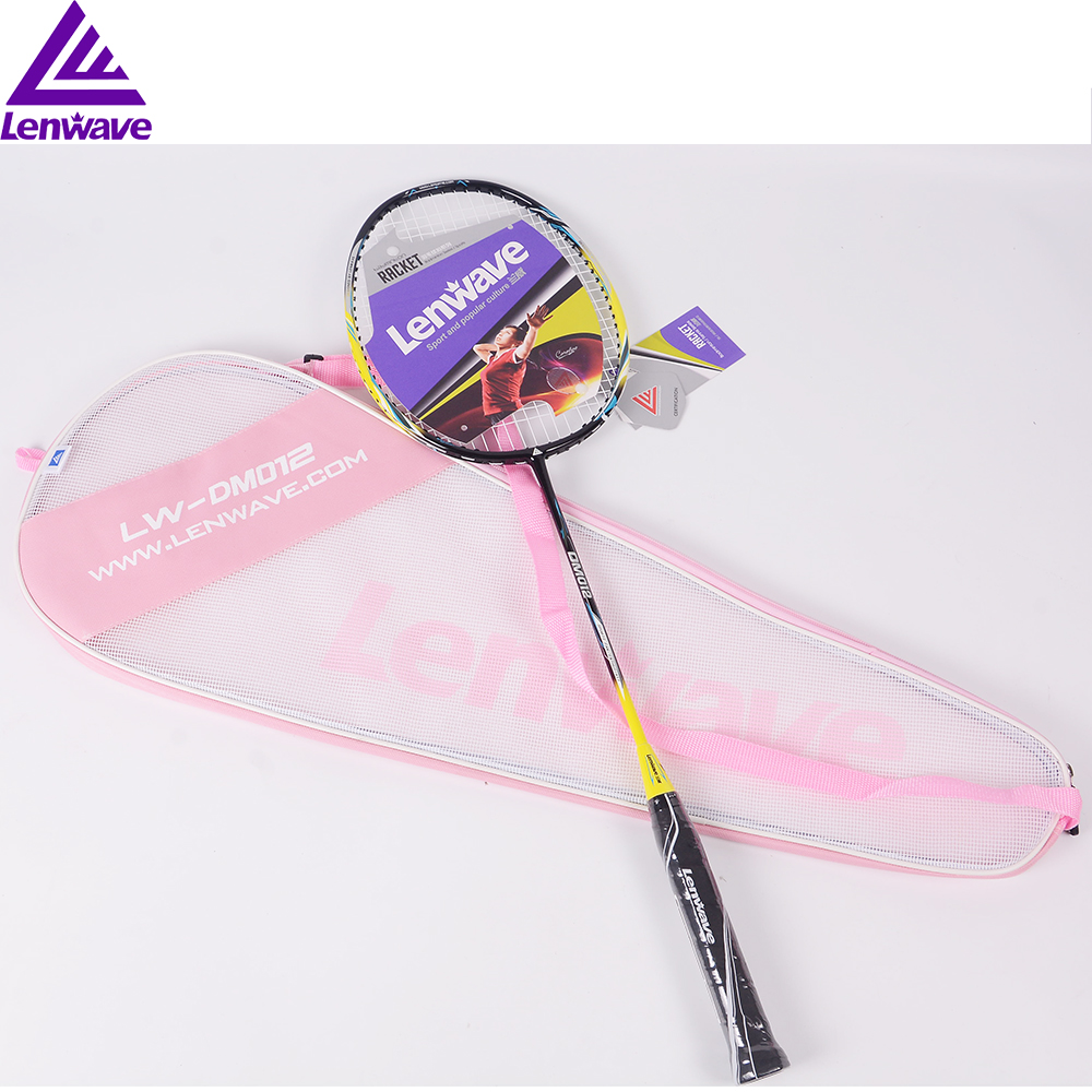 Carbon Aluminium Badminton Racket 1 Piece Durable Racket With Carry Bag Women And Men Sports Training Racket
