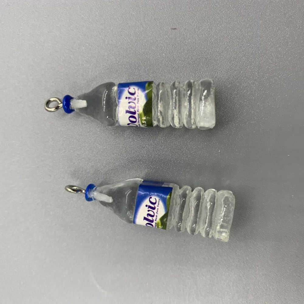 אקריליק סימולציה מיני מים בקבוק DIY עגיל Keychain אביזרי Creative תליון 2 PCS