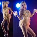 2016 roupas sexy dançarina de moda de Nova curto feminino moderno traje de dança estágio cantor trajes sexy traje vermelho para a cantora estrela