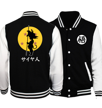 Japanese Anime Dragon Ball Z  Baseball Uniform Jackets Men Fashion Hoodies Men Cosplay Costume Plus Size S-5XL