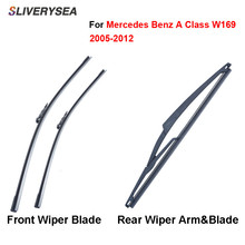 цена на Pair Windscreen Wiper Blades For Mercedes Benz A Class W169 2005-2012,Fit WindshieldRubber Wipers Arm,Car accessories
