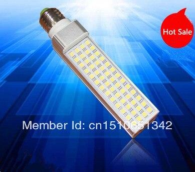 Free Shipping Base for G24 / E27 44pcs 5050 SMD 9W Warm White/Cool White LED Corn Light Led Bulb Lamp Lighting AC85~260V