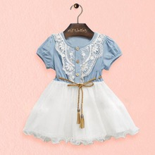 Toddler Baby Kids Girl Short Sleeve Lace Princess Tutu Dress Party Dresses 1-6Y Hot 2018 baby unicorn toddler baby girl princess dress kids summer rainbow party dresses 1 6y
