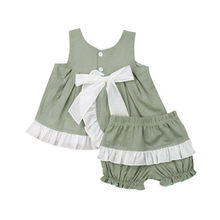 Baby Girls Clothes Set Solid Gray Sleeveless Dress Girls Sling Spaghetti Dresses For Girls Strap Shorts Pants Kids Sets Clothing(China)