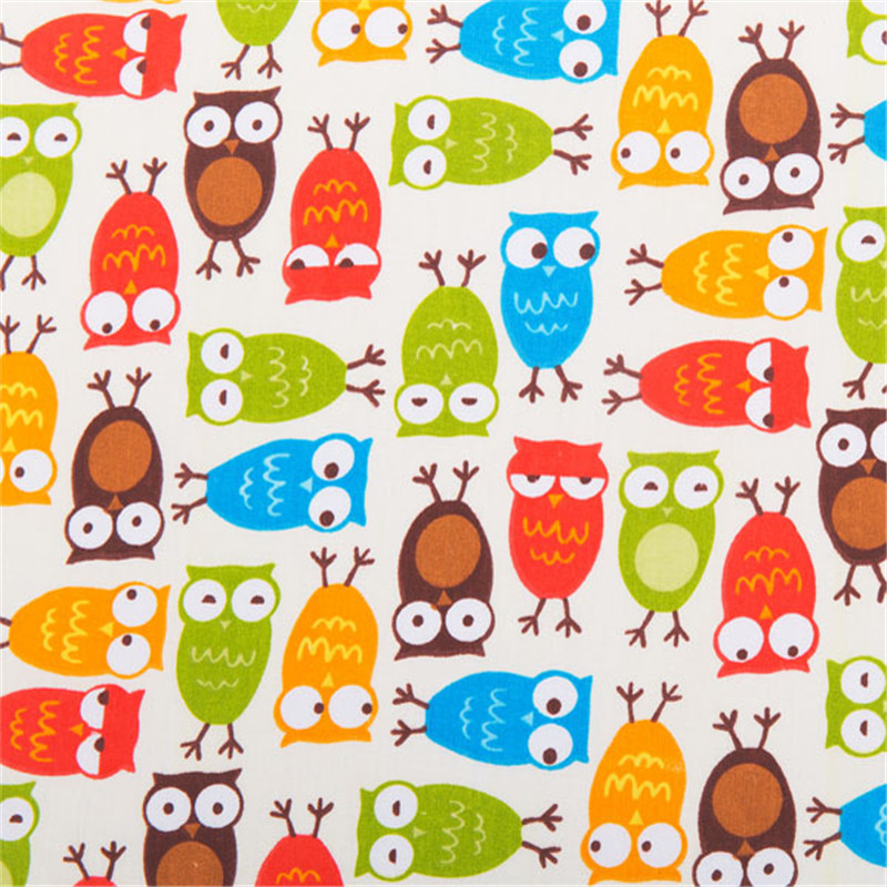 100 cotton owl fabric for sewing sewing soft baby for Sewing material for sale
