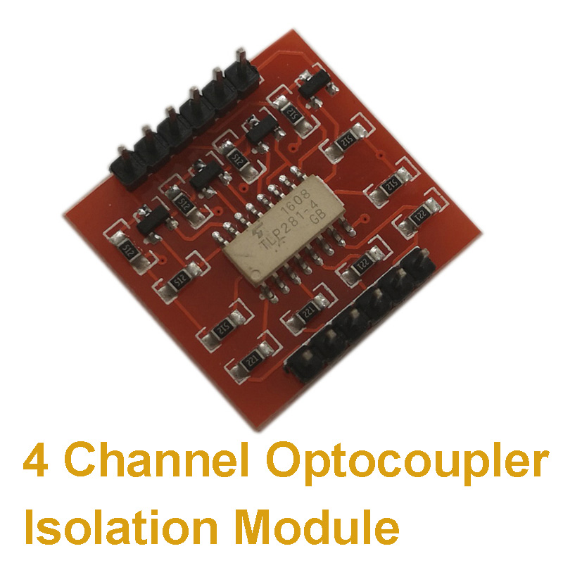 5pcs/lot  4 Channel Optocoupler Isolation Module for Arduino High and Low Level Expansion Board free Shipping