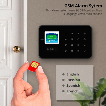 KERUI GSM G18 home alarm with motion detector sensor prevent the pet solar siren ndoor outdoor security cameras wireless kit 2
