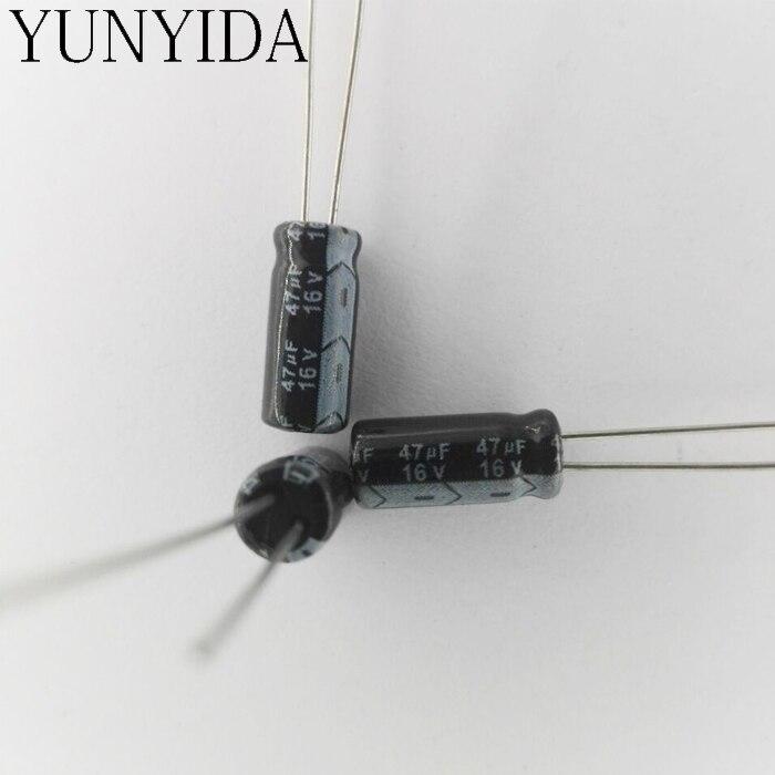 Electrolytic Capacitor 47UF 16V    50PCS   16V47UF