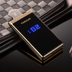 """Image 2 - Männer Flip Touch Big Screen 3,0 """"Display Business Telefon Schnell SOS Schlüssel Metall Körper Senior Nicht smart Mobile handy M2 P302"""