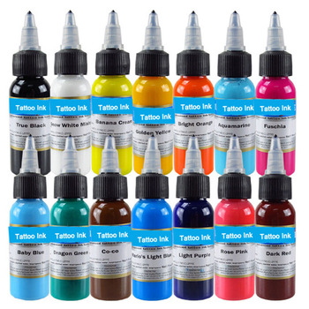 30ml Natural Plant Tattoo Ink 14 Colors Pigment for Semi-permanent Eyebrow Eyeliner Lip Body Arts Paint Makeup Tattoo Supplies o g tattoo ink pigment permanent makeup tattoos ink red group for body art paint tattoo color inks 1oz 30ml tattoo supplies