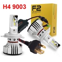 1 Conjunto F2 LED Farol Farol 72 W 12000LM H4 9003 HB2 ALETA fichas Turbo Ventilador 6 K Branco Design Perfeito Mais Brilhante Hi/Low Lâmpada Do Carro
