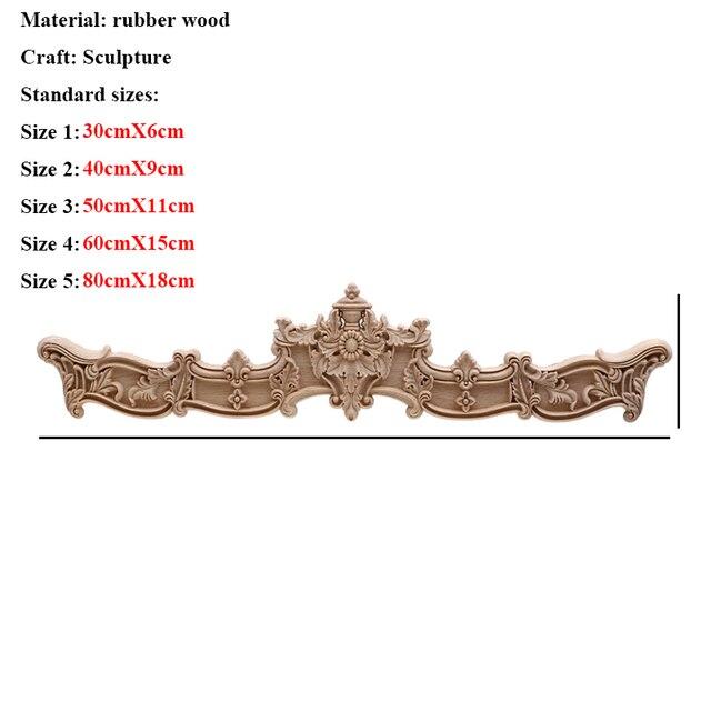 VZLX Floral Wood Carved Corner Applique Vintage Wooden Carving Decal For Furniture Cabinet Door Frame Wall Home Decor Crafts 2