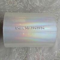 Holographic Foil Plain Transparent Foil Hot Stamping On Paper Or Plastic 8cm X 120m Lot DIY