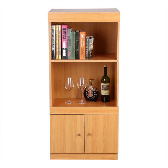 Multi Function Office Study Room Bookcase Storage Wooden Bookshelf 3 Layers  Home Kitchen Caninet Book
