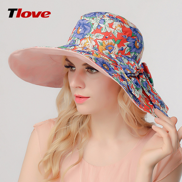 2016 New Spring and Summer Sun Hat Lady Outdoor Sun  Cap Unscreen Korean Wide Brim Beach Hat Folding B-3147