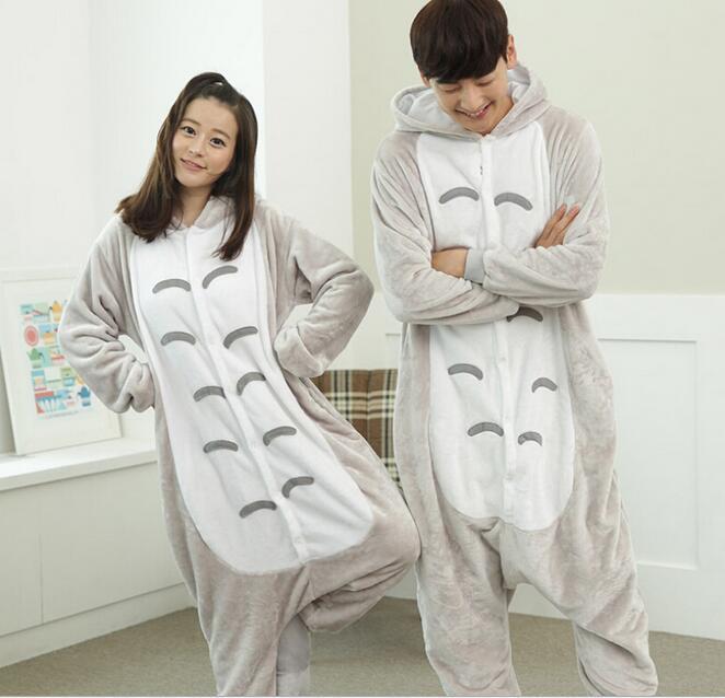 Totoro Pyjamas women Onesies for adults lounge pajamas My Neighbor Totoro sleepwear Flannel Animal pajamas femme/mujer NL1751