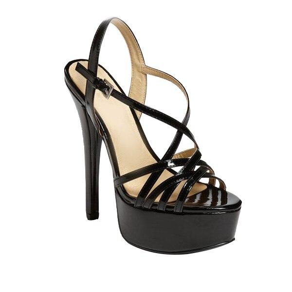 Sapatos Femininos Zapatos Mujer Высокой Платформе Женские Туфли Лодыжки Ремень Тонкие Высокие Каблуки Кросс-привязаны Платье Для Леди сандалии